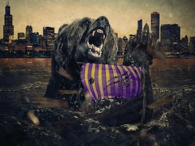 Bears VS Vikings Victory Graphic