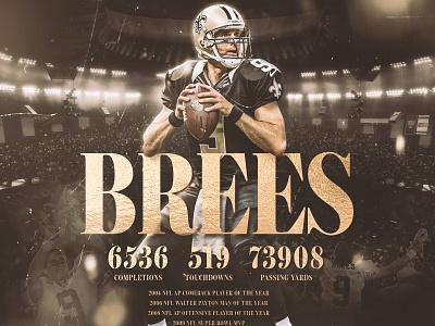 Drew Brees fotball smsports sportsdesign athlete sports nfl football saints
