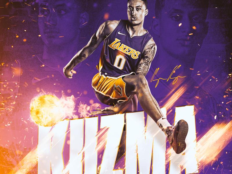 Kyle Kuzma sports app basketball nba athlete kuzma sports design smsports los angeles sports lakers