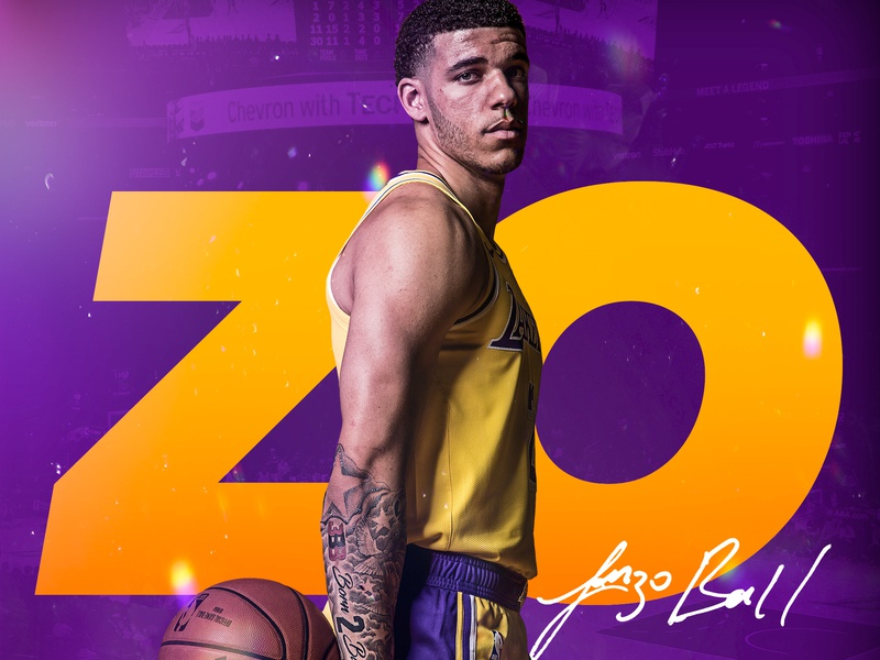 Lonzo Ball zodiac athlete basketball nba sports design smsports los angeles la lakers lakers zo lonzo