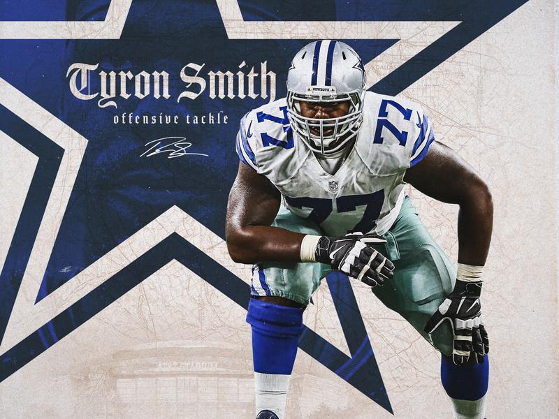 Tyron Smith sports app nflplayoffs dallas nfl football sports design smsports sports cowboys