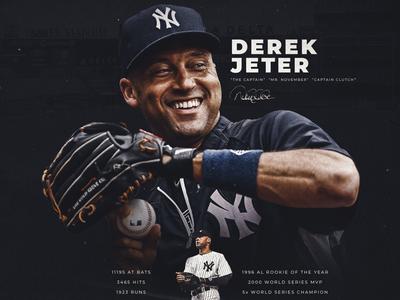 Derek Jeter jeter athlete new york yankees sports design mlb baseball smsports