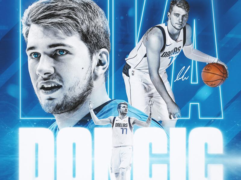 Luka Doncic basketball card athlete basketball nba sports design luka doncic mffl mavs sports