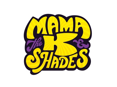 Mama K & the Shades Logo starburst gold logo 80s retro funk austin