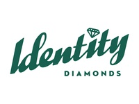 Identity diamonds Script logo