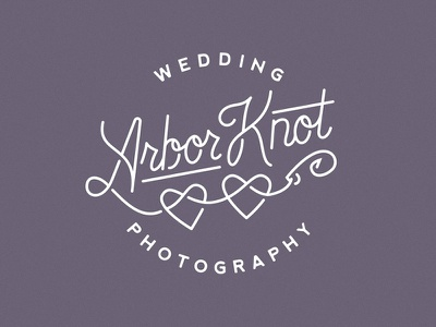 Arbor Knot Logo hook know heart line type script wedding