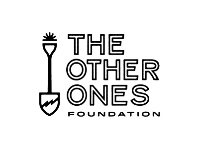 The Other Ones Foundation Logo identity spade outline type bolt shovel texas logo airshp austin