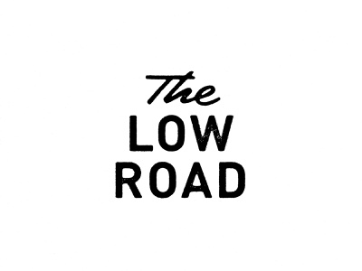 The Low Road Logo script bluegrass colorado denver music logo airshp