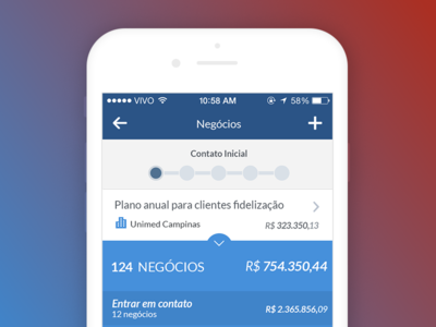 Agendor IOS blue agendor iphone mobile ios crm