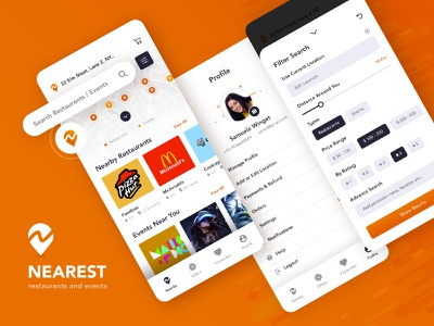 Find Restaurant and Events design uiux mobile app events restaurants