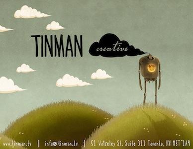 Tinman Calling Card - Portfolio Cover tinman tinman creative 2d design illustration animation series editorial illustration broadcast design commercial clouds hills sky toronto ontario canada