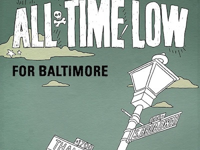 "All Time Low ""For Baltimore"" Single Release Artwork all time low for baltimore dont panic tinman creative studios brett jubinville"