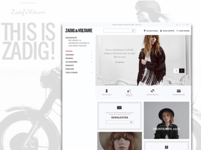 Redesign Zadig&Voltaire - E-commerce