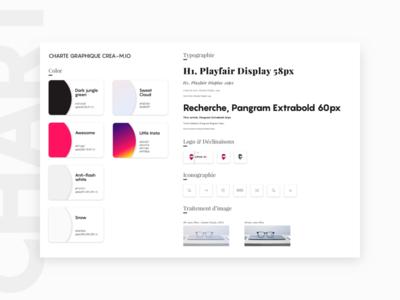 Style Guide Creamio sketchapp icon typography color logo ui graphic styleguide blog