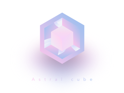 Astral cube geometric spirit astral cube gradient ui icon sketch design