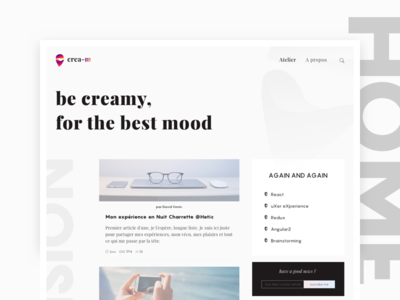 Blog Creamio - Home Page