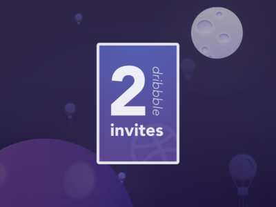 2 invites dribbble - Mood moon