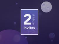 2 invites dribbble - Mood moon