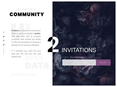 Invitation Dribbble ui ux communauty dribbble invitation
