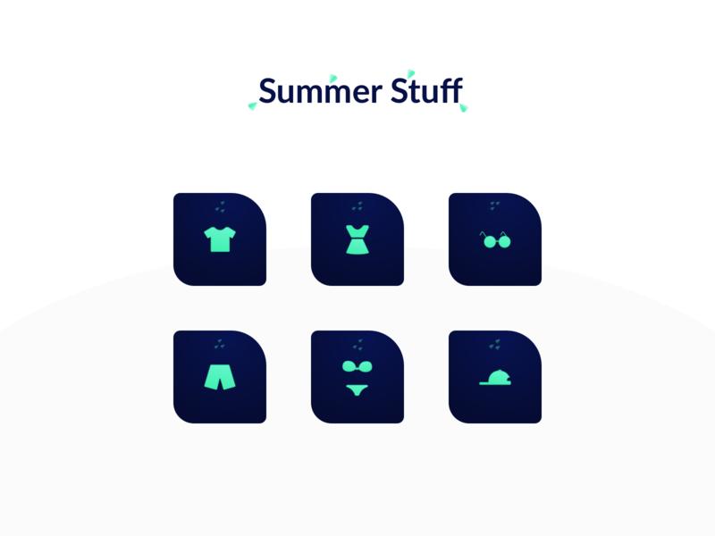 Icon - Summer Stuff vector summer interface nekideva icon illustration colors gradient ui