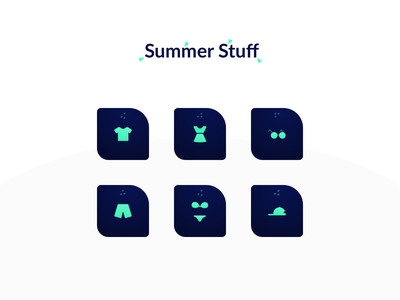 Icon - Summer Stuff vector summer interface nekideva icon illustration colors gradient ui