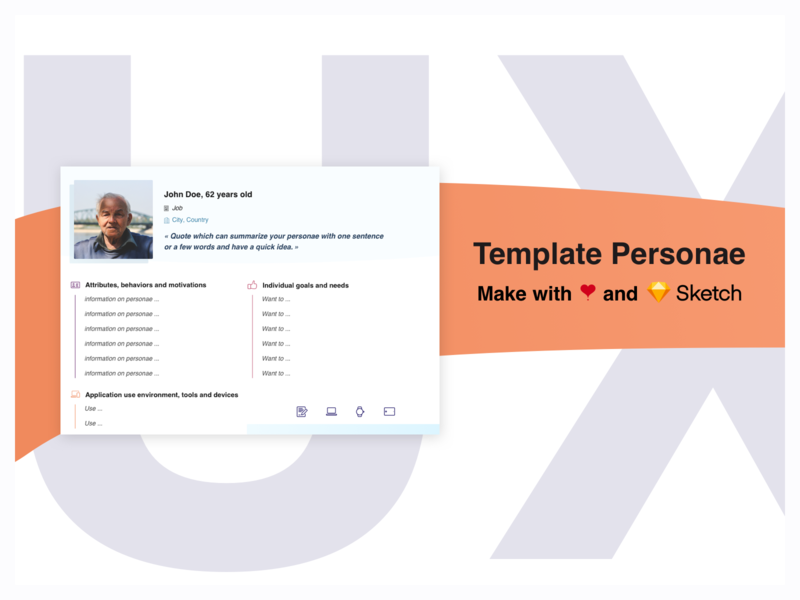 Freebie - UX template Personae sketch freebie free template userresearch workshop personae persona ux