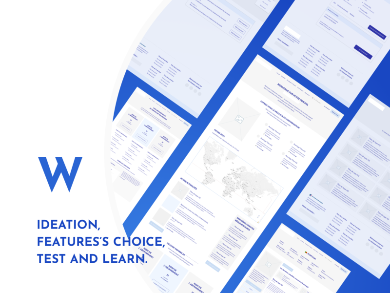UX Step - Wireframes design website test features wireframe ux