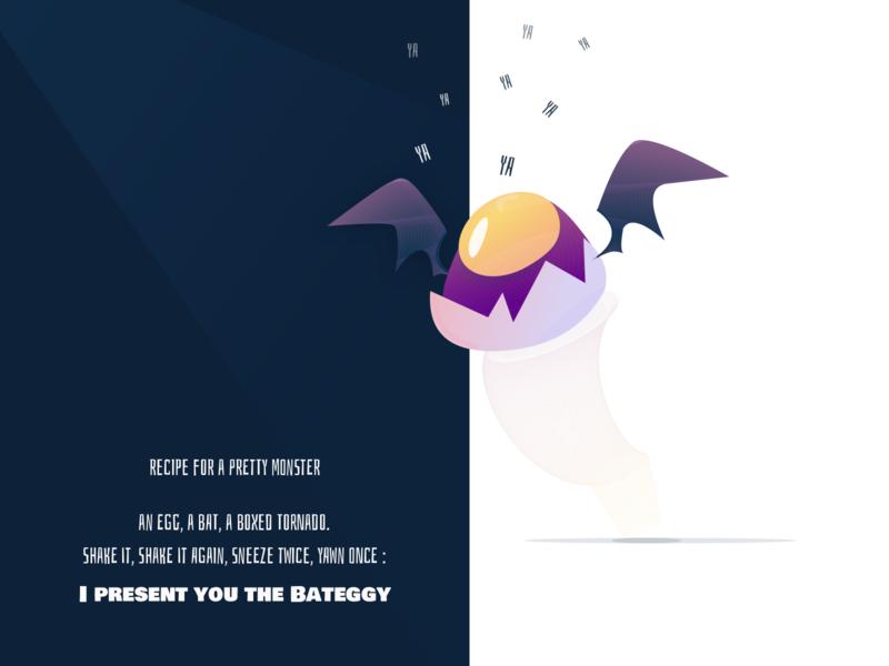 Challenge Halloween - Recipe for a monster nekideva illustration character lign colors inspiration