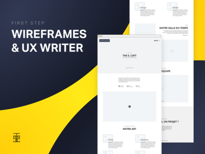 Wireframes & UX Writer - Home Page Website