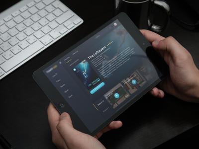 TV App / Free .psd 025 design ui ux dark dailyui ipad app tv