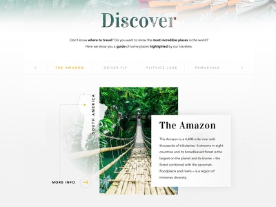 Travellers: National Geographic Site tourism discover ui trip web traveler travel national geographic landing page