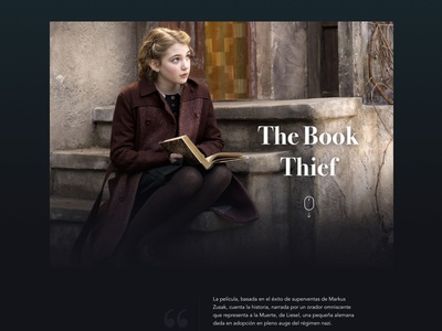 The Book Thief: Project triad thief teaser principle poster movie design graphic film book animation