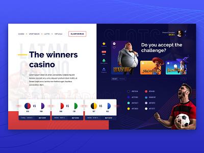 Latam Casino Concept stylescape character winner slots sports bet sportsbook concept casino latam