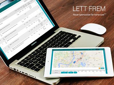 Lett Frem - Route Optimization for Home. innofied db mongo node.js angular.js routeapp webapp