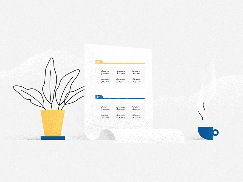 Sales template illustration sales minimalism design flat texture flowerpot plant cup tamplate environment work workplace