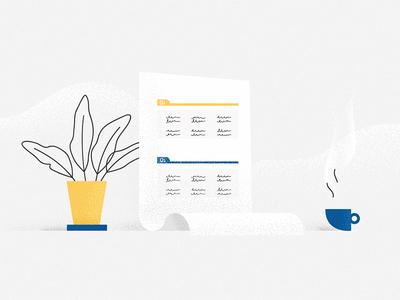 Sales template illustration