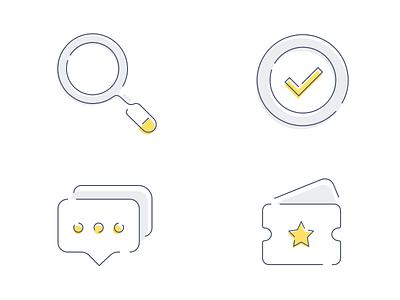 Icon Practice 3 error coupon empty comment correct illustration search icon