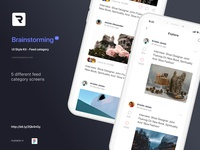 Brainstorming UI Style Kit - Feed category