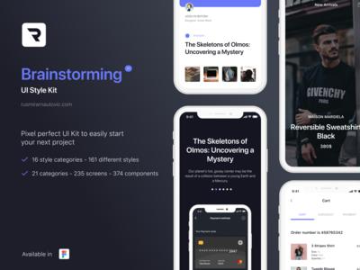 Brainstorming UI Style Kit - Free download