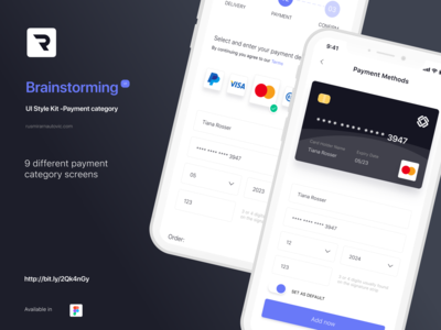 Brainstorming UI Style Kit - Payment category