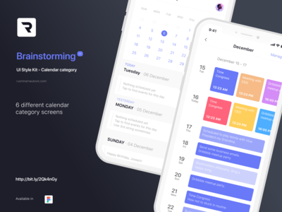 Brainstorming UI Style Kit - Calendar category