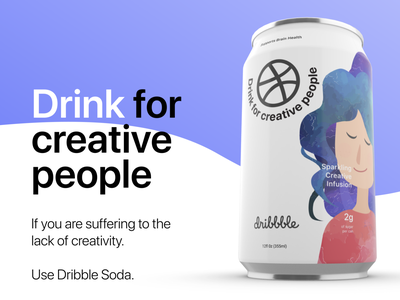 Drink for Creative People flat can drinking dribbble drink
