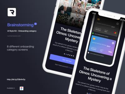 Brainstorming UI Style Kit - Onboarding category