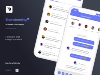 Brainstorming UI Style Kit - Chat category