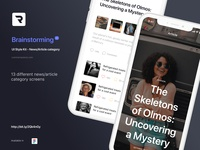 Brainstorming UI Style Kit - Article category