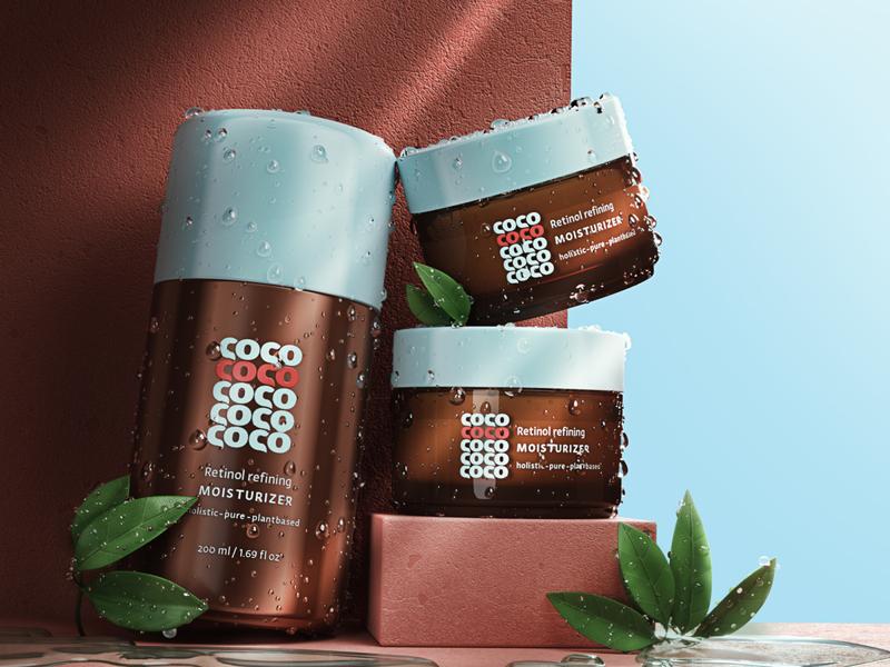 cosmetic brand visualization logodesign render 3d package visualization package design cosmetology cosmetic logo cosmetic