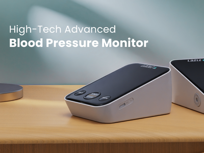 Blood pressure monitor - 3d visualization product visualization banner advertising electronics render 3d