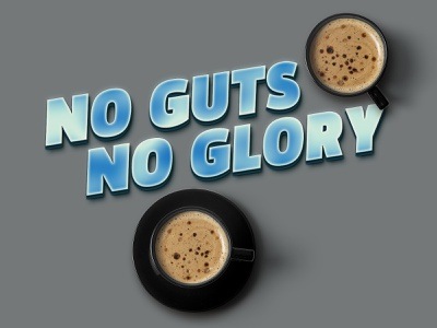 No guts - No lory type design logo photoshop action typography text layer style text effect typo