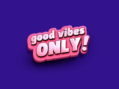 Don't Kill My Vibe 3d type logo design concept logo 3d 3d bubblegum 3d icon logo design typo