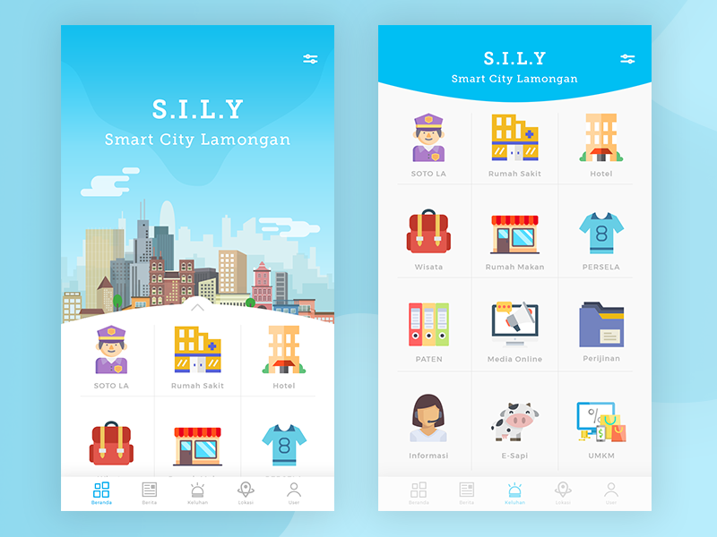 Inspirasi #33 - UI / UX Design Smart City Web / App